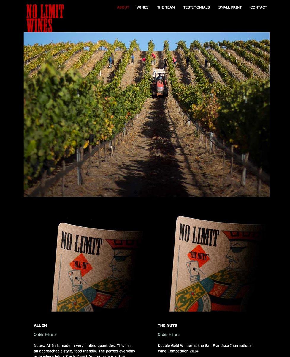 No Limit wine